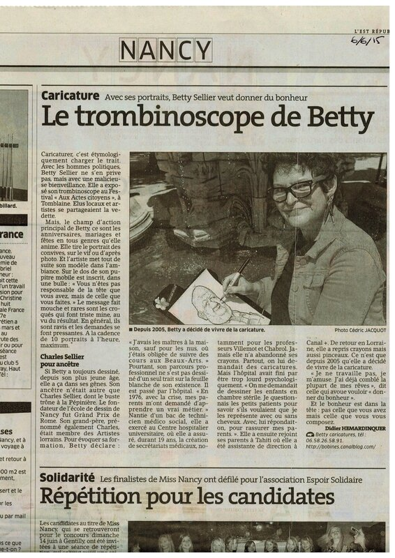 Betty caricaturiste quotidien journal est republicain article 06 juin 2015