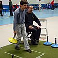 Epreuve de curling sur tapis