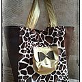 The bag wild giraffe