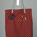 TOTE BAG à pois copie