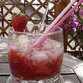 Caipirinha à la fraise, strawberry caipirinha
