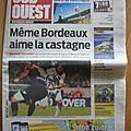 Article de presse: sud ouest édition gironde du samedi 17 aout 2013
