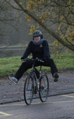 Vélo sans les pieds