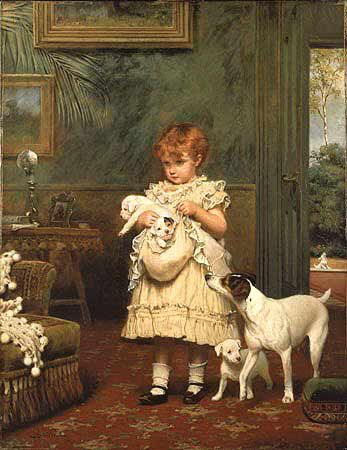 _Charles_Burton_Barber_Girl_with_Dogs_ZCL_3414