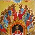 18 La Descente de l'Esprit Saint Sur les Apôtres et sur Marie, réunis au Cénacle