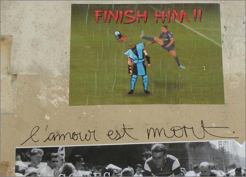 Graffiti Paris avril 2014 7 amour est mort sportifs