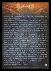 Sophet Drahas - cruelle (artefact)