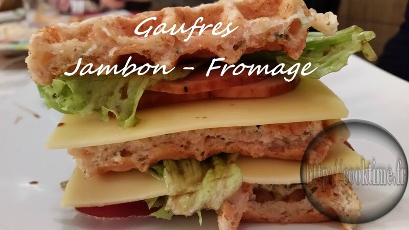 Gaufres jambon fromage au thermomix 2