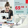 Nouvelle vente de machine à coudre ce 10 septembre 2015 : quel modèle ??? chouette, une silvercrest !