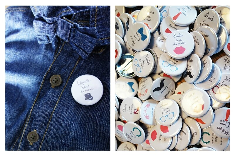 collection badge marque-place retro vintage