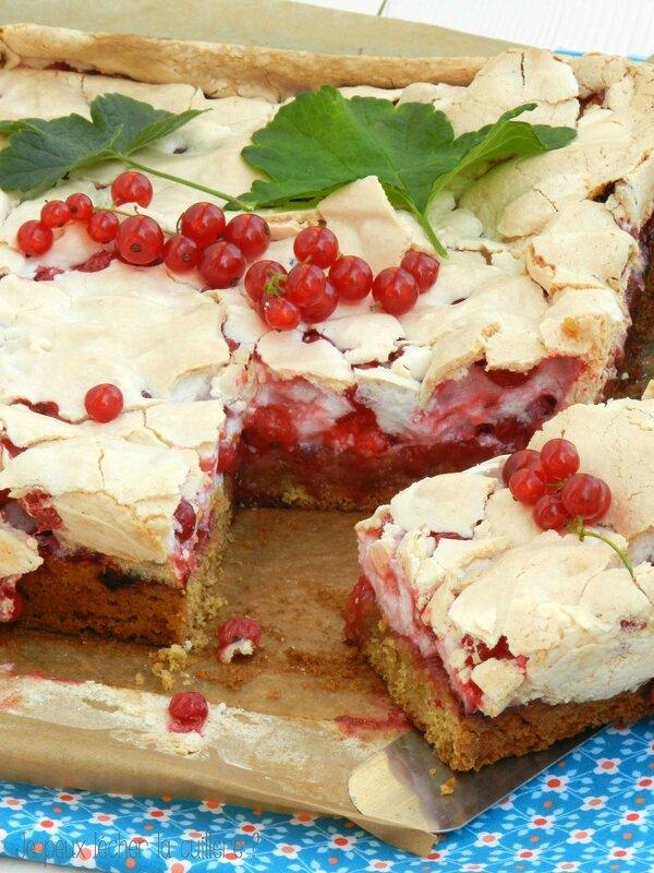 Gâteau meringué aux groseilles5