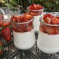Crèmes coco-fraises