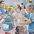 Aquarelles du mexique 12-2012 al mercado