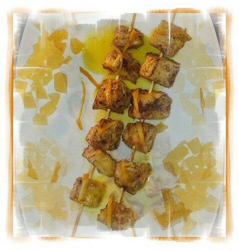 brochettes ananas