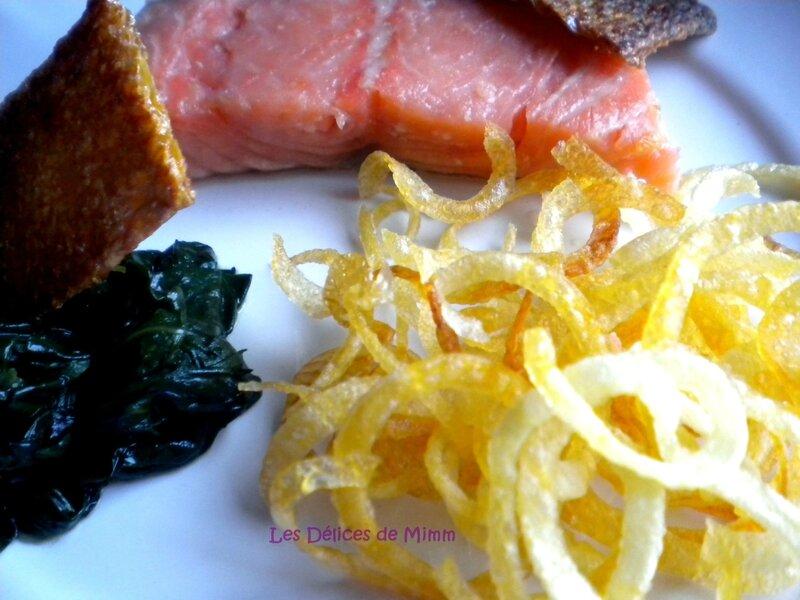 Saumon confit aux agrumes et croustillants de pommes de terre 2