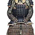 A blue-laced armor with a do-maru