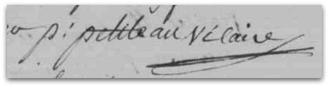 Petiteau signature z