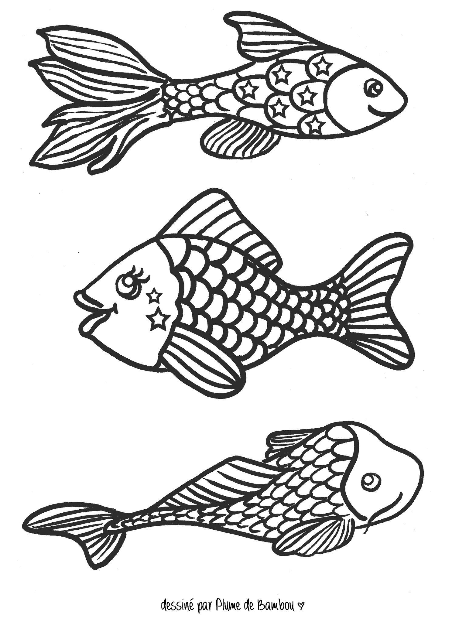 Mars 2013 tous les messages plume de bambou - Dessins poissons d avril ...
