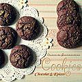 Cookies chocolat & épicés