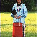Une jeune fille de la nation osage
