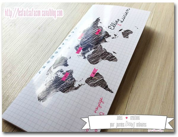 faire-part billet d'avion carte dessin pochette