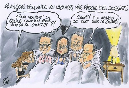 Vacancs François Hollande
