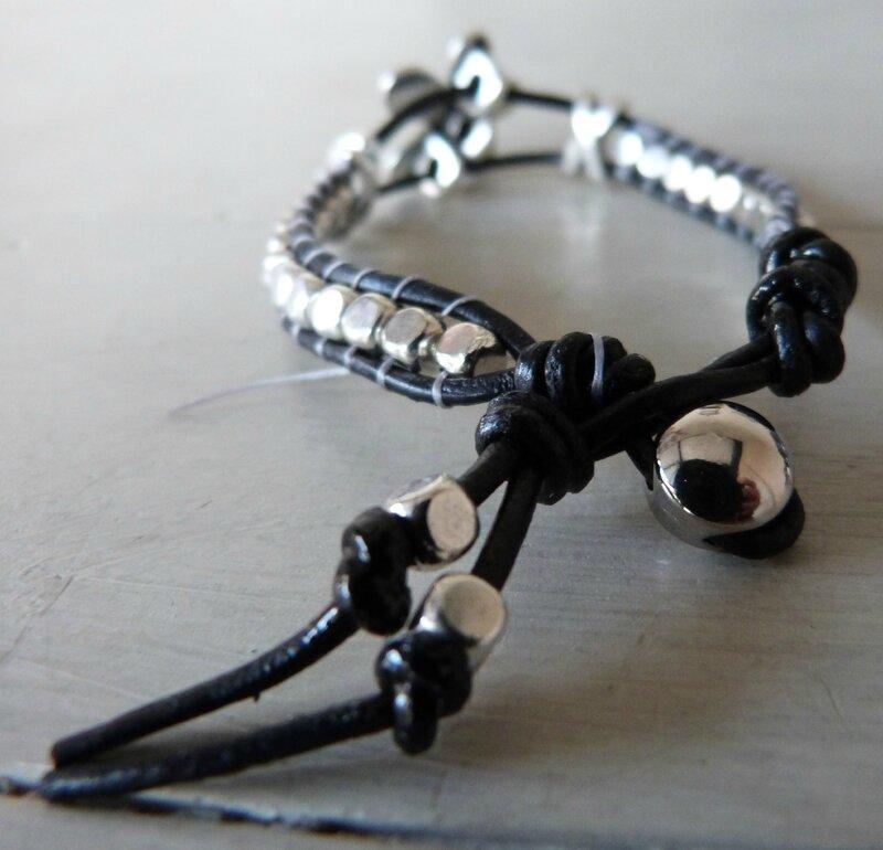 Bracelet macramé métal Zamak (12)