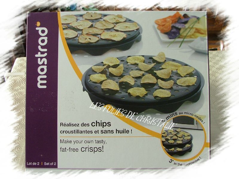 Chips micro onde mastrad les ustensiles de cuisine for Chips carotte micro onde