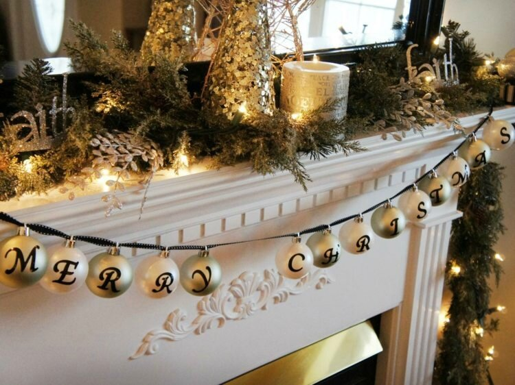 decoration-de-noel-guirlande-manteau-cheminee-boules-bougies