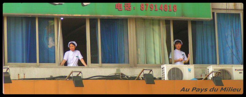 Hangzhou en levant la tête
