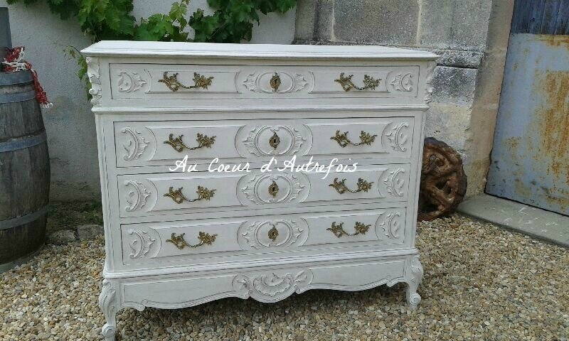 Commode Louis XV Patine ficelle S