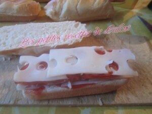 Petit pain garni façon panini11
