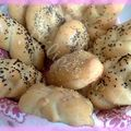 Mes shaped dinner rolls