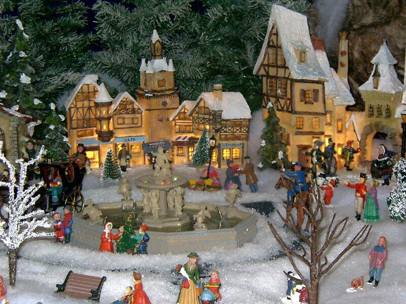 Pdr 0161 photo de village de no l 2004 noel miniature - Village de noel miniature ...