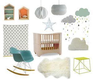 une chambre b b nordic deco trendy a t e l i e r. Black Bedroom Furniture Sets. Home Design Ideas