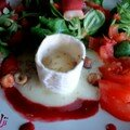 Salade de chèvre aux framboises