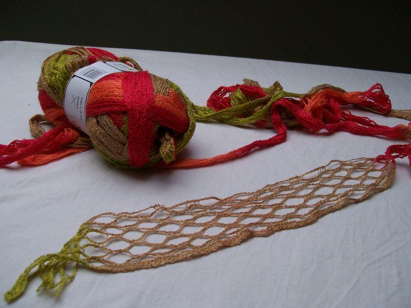 comment tricoter fil ruban