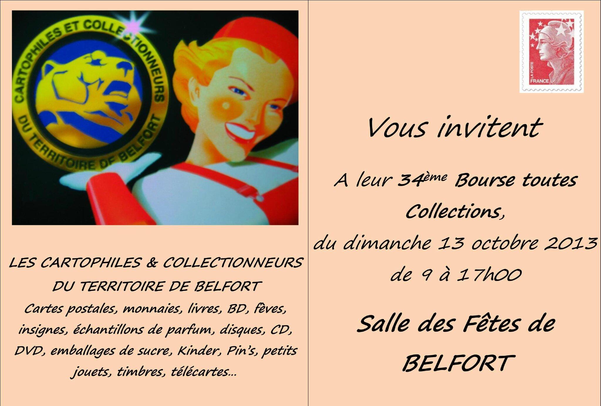 34ème Bourse Toutes Collections le 13 octobre 2013. La Rentrée des collectionneurs