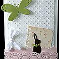01. blanc, vert, rose et chocolat - lapin et papillon