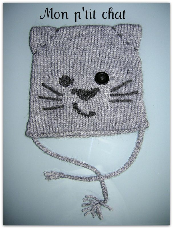 modele bonnet chat bebe