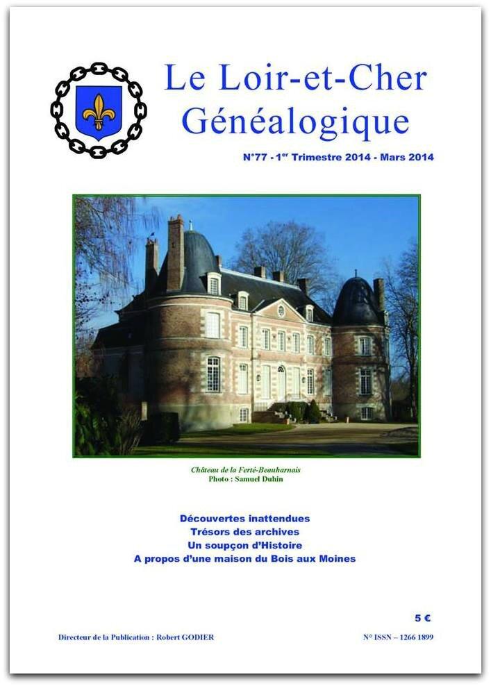 Loir et Cher Généalogique 2014jpg