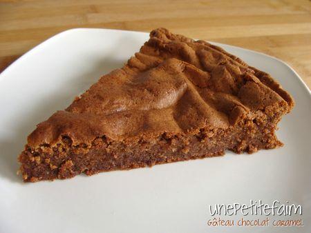 Gâteau chocolat caramel - part