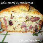 Cake canard cramberries