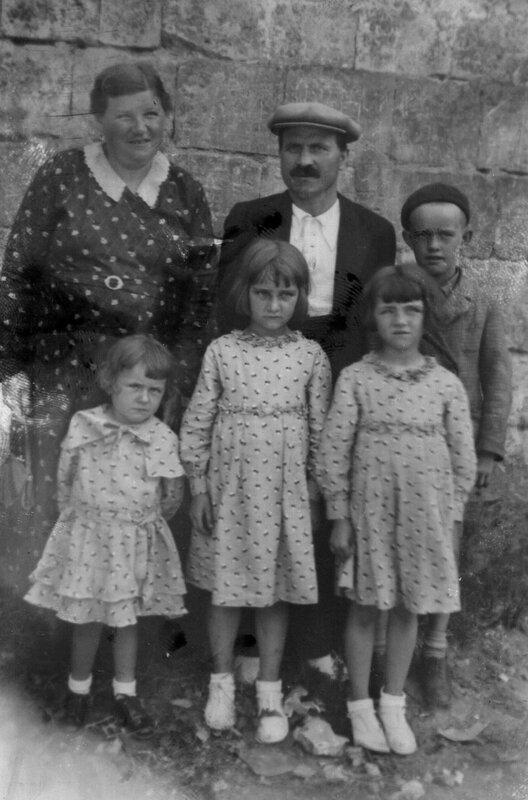 famille guedes rody granpere grandmere et enfants inconnus