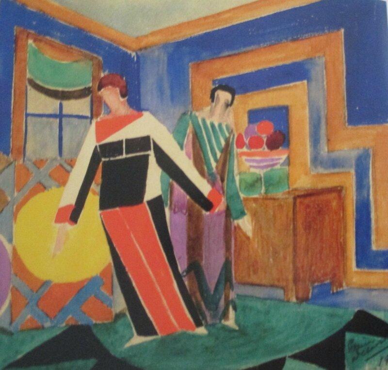 Sonia delaunay au mus e d 39 art moderne m moire virtuelle for Scene d interieur blois