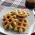 Gaufres à la farine de noix de coco, sans gluten, sans lactose et sans gras