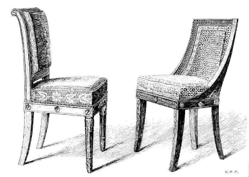 la chaise empire d tails et techniques regard d 39 antiquaire. Black Bedroom Furniture Sets. Home Design Ideas