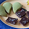 Petites gâteries bien à mon goût! sablés au matcha et chocolat à la lavande!