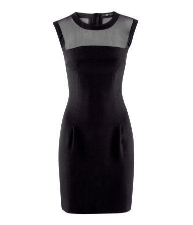 robe h&m noire transparente, 34,95 €