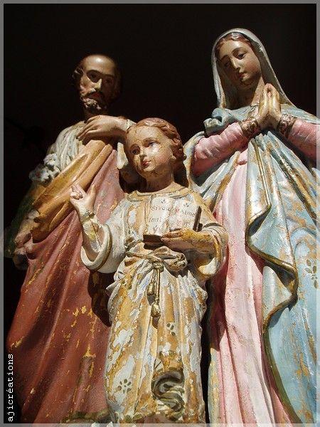 La Sainte Famille (bois Polychrome)